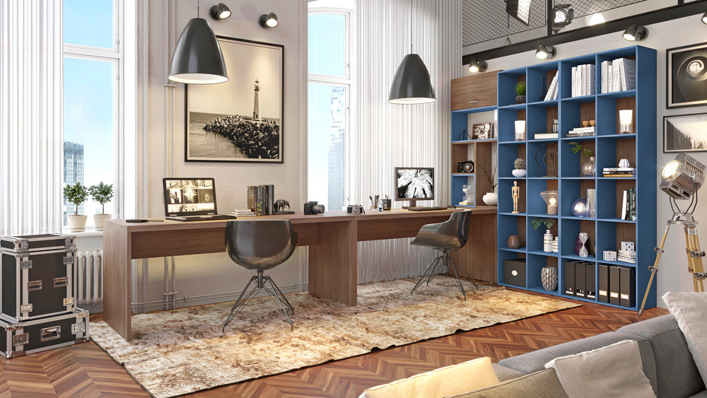 Home Office Fotografo Azul Nogueira