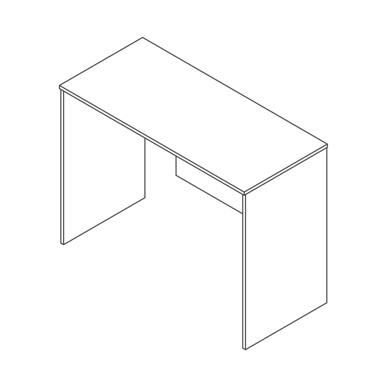 Mesa gaveta lateral britta