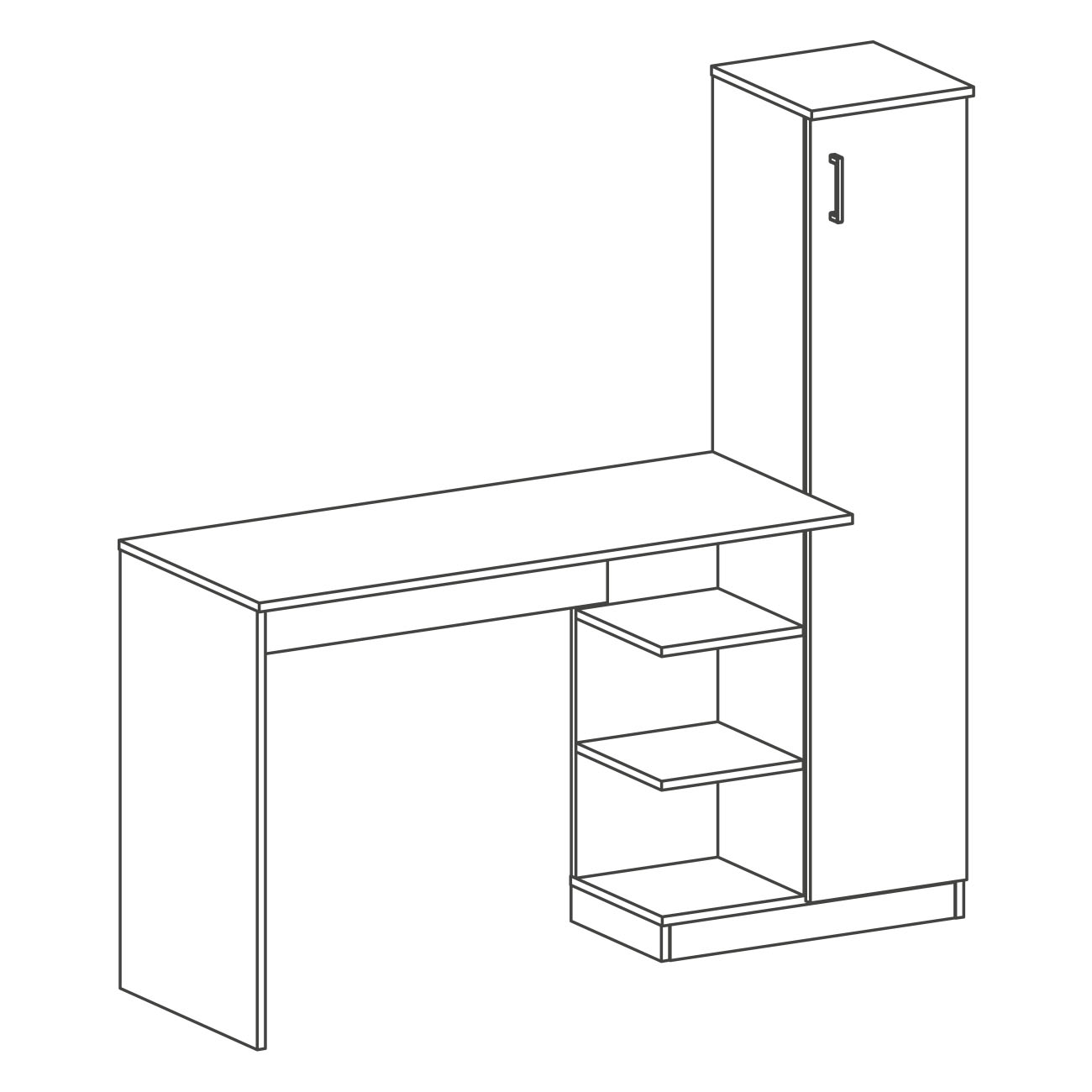 Mesa armário lateral britta