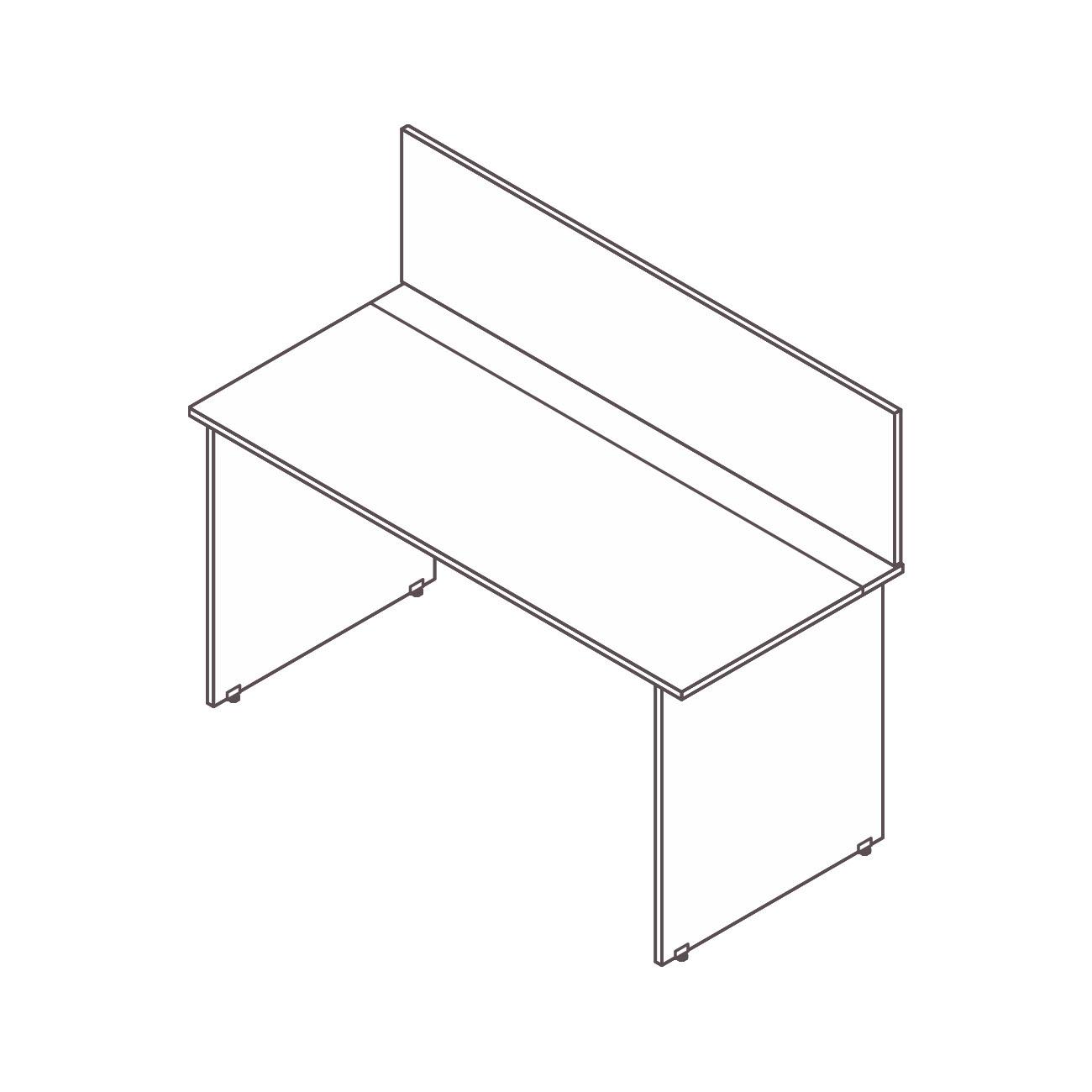 Mesa plataforma individual (passa fio / tomada) diamante