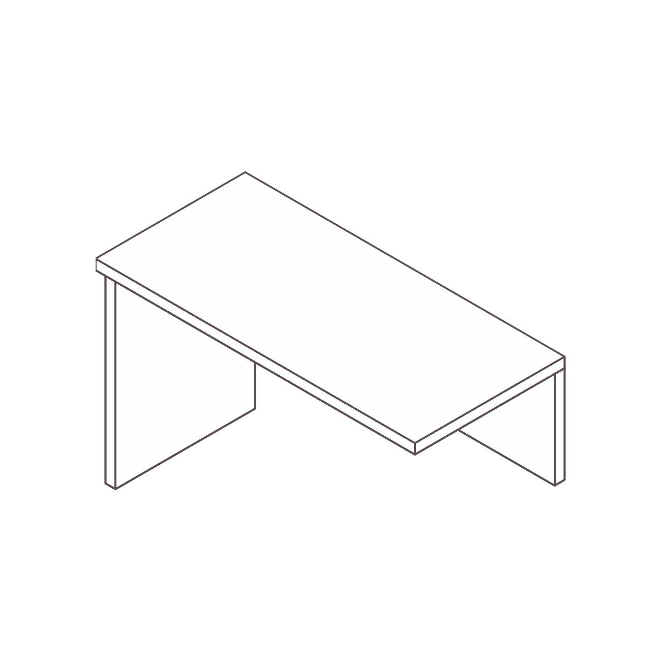 Mesa auxiliar apoio pé painel prata plus