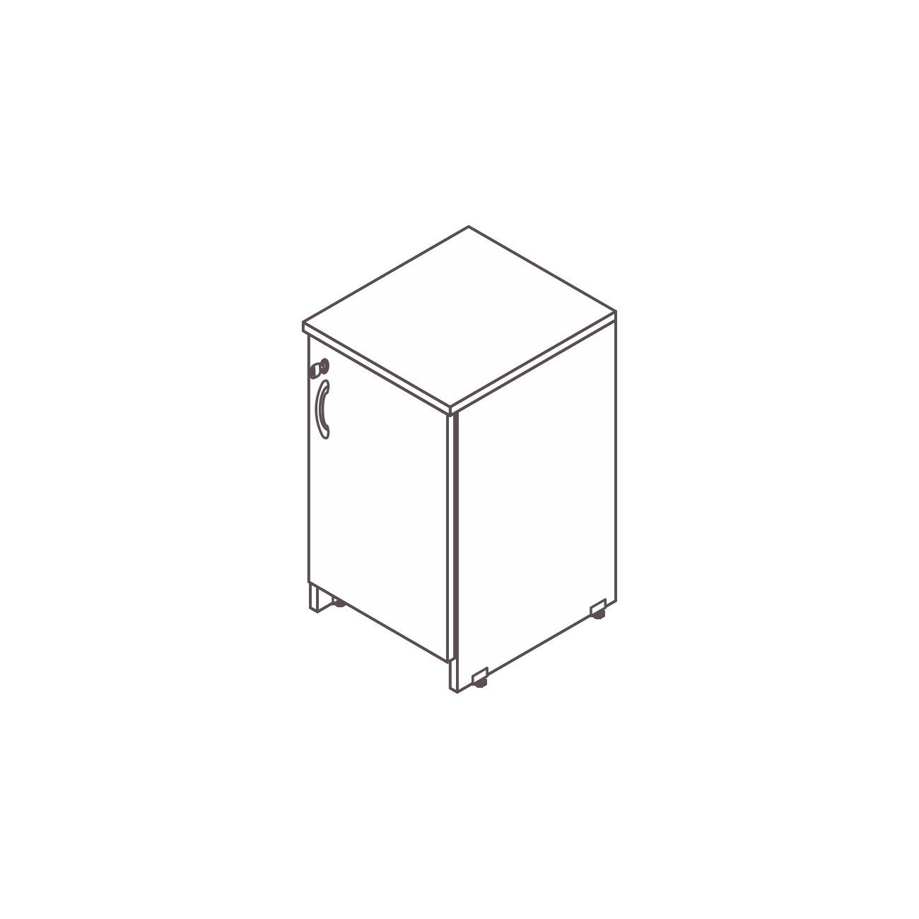 Armário secretária 1 porta diamante