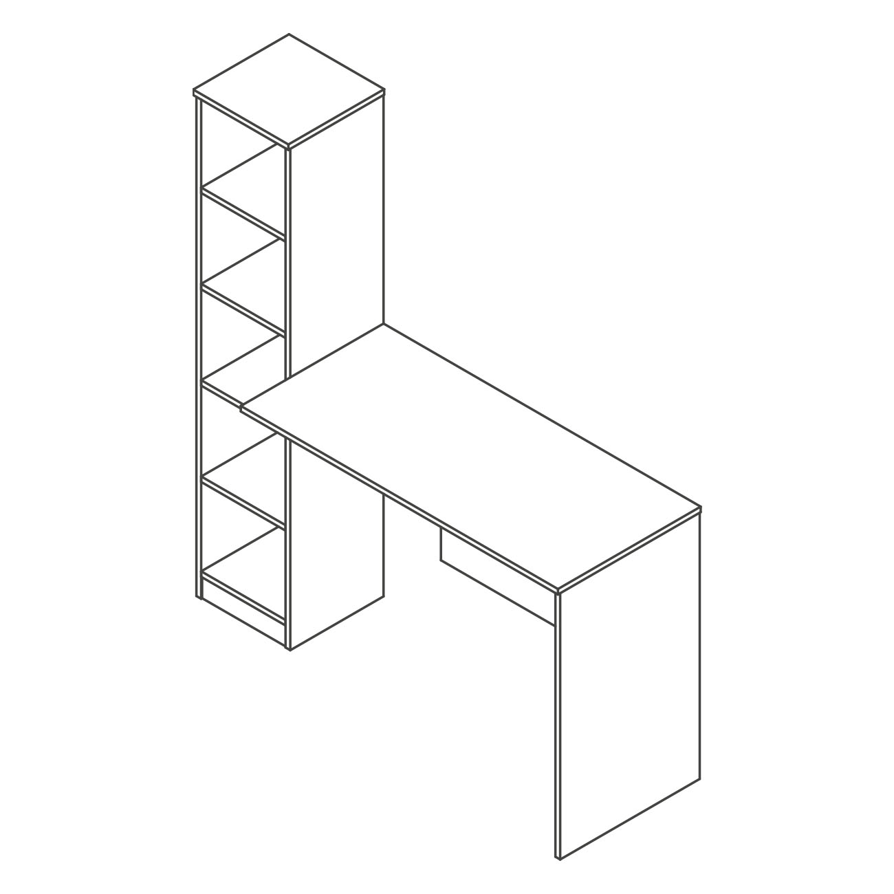 Mesa estante lateral britta