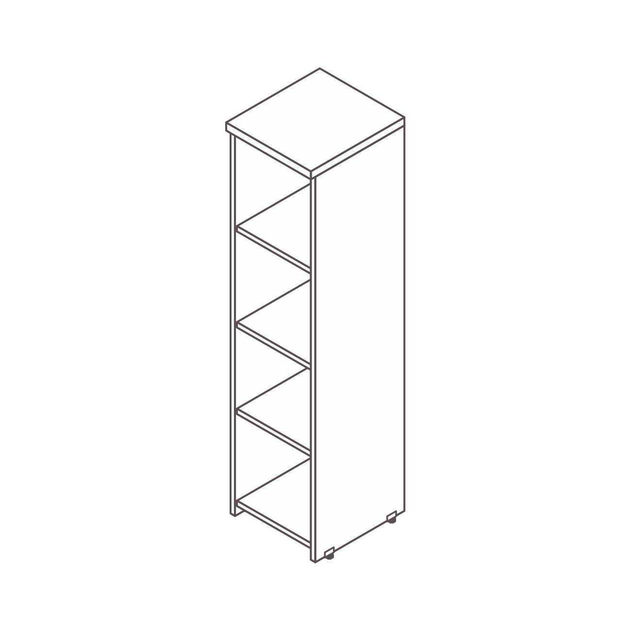 Armário estante torre pérola