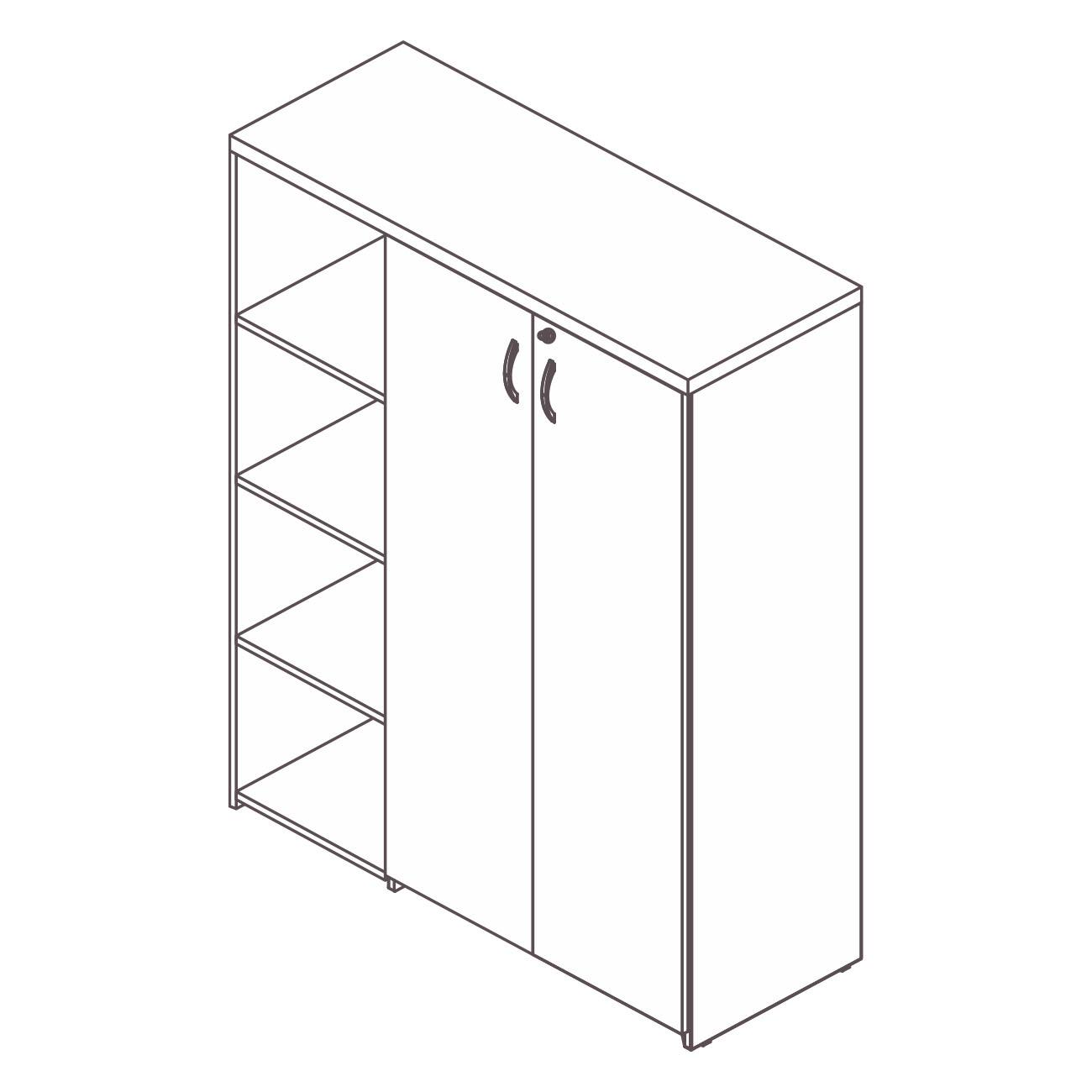 Armário diretor estante lateral prata top