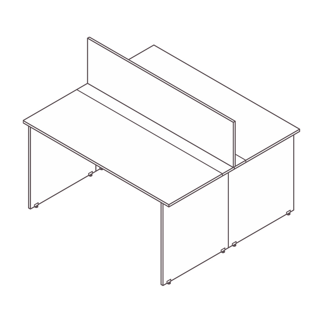 Mesa plataforma (passa fio / tomada) diamante