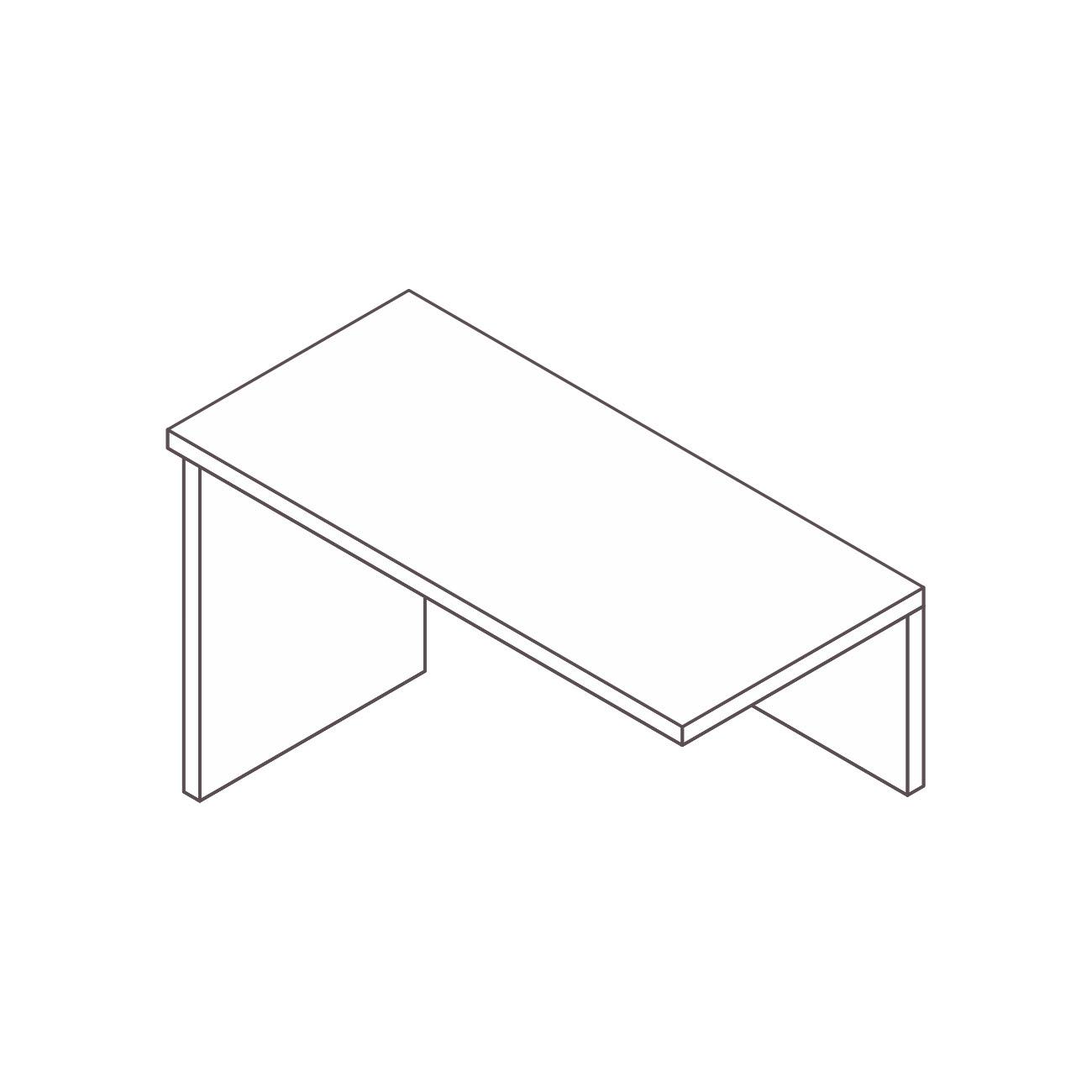 Mesa auxiliar apoio diamante pé painel