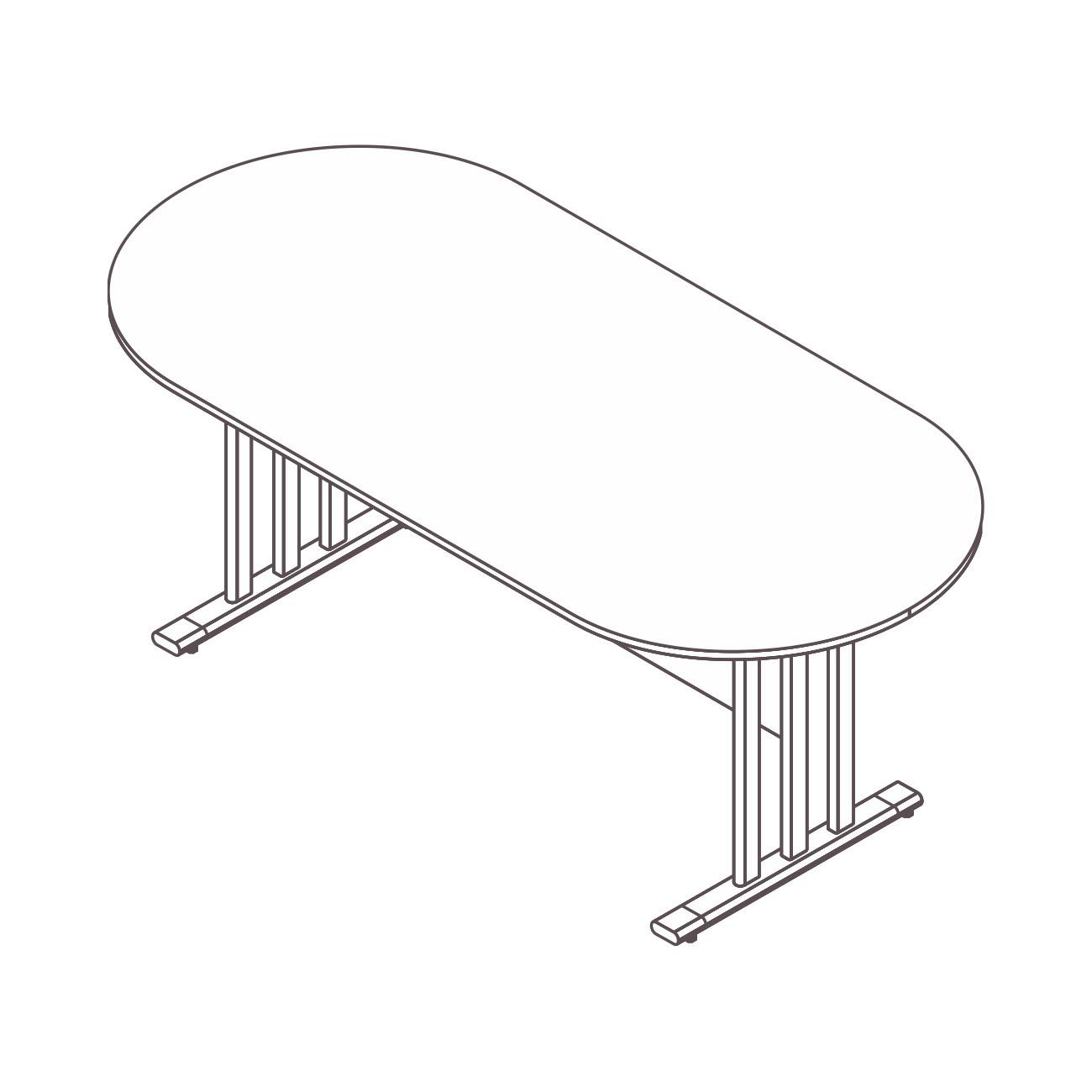 Mesa reunião oval plus